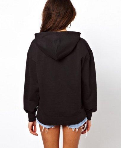 WIIPU Womens cotton hoodie with boy london print(J114) (M)
