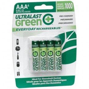 Dantona Ulged4Aaa Aaa Ul Green Pre-Charged Rechargeable Nimh Batteries - 750Mah 4-Pack