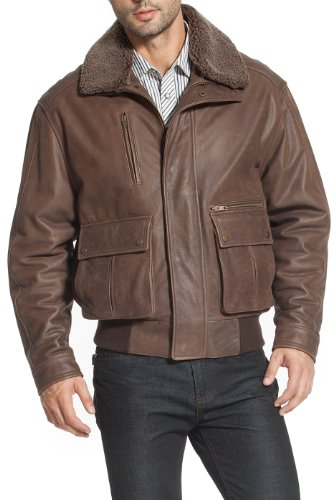 Landing Leathers Men's Alex Leather Aviator Flight Jacket - M Distressed Brown