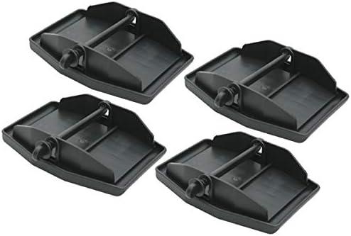 4 Xl Stützplatten Stützfußplatten Kurbelstützen Wohnwagen Wohnmobil Anhänger Caravan Auto