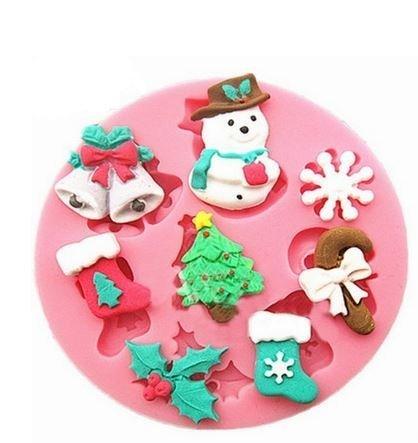 Regalos de Navidad Mini silicona decoración para tarta para molde