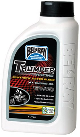 BEL RAY LUBRICANT Thumper Racing Synthetic Ester Blend 4T Engine Oil - 15W50 - 1L.