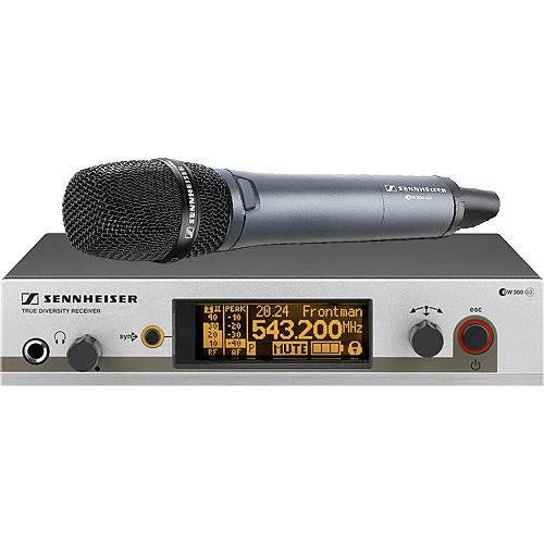 Sennheiser EW 365 G3 Wireless Microphone System, Includes EM 300 Rack-Mount Receiver and SKM 300 Handheld Transmitter with E865 Capsule and GA3 Rack Mount Kit (Frequency Band A1: 470 to 516 MHz) ()