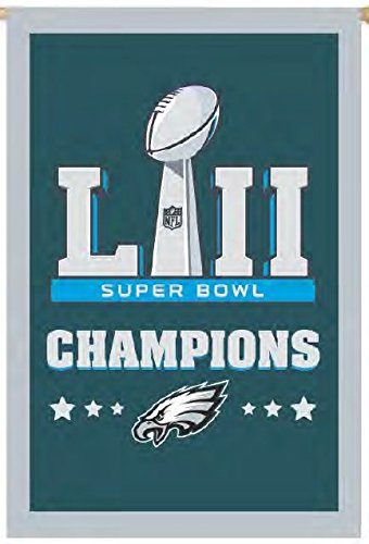 - Philadelphia Eagles Champions EG 2-sided GARDEN Flag Banner Applique Embroidered Super Bowl Football