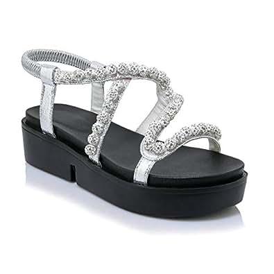 Amazon.com | END GAME Women Sandals Leather Platform