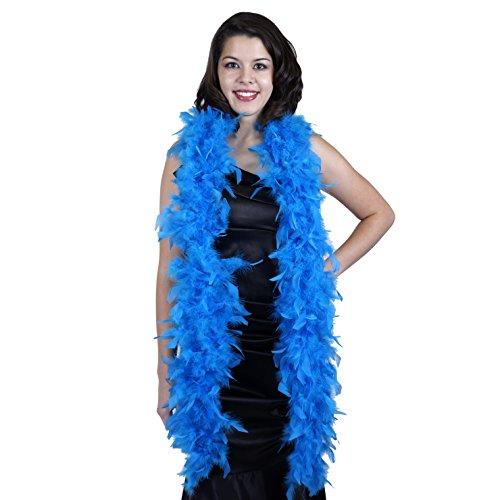 ZUCKER Medium Weight Chandelle Feather boa Solid Colors - Dark Turquoise