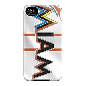 Diy For Iphone 6 Case Cover PC Phone(miami Marlins)
