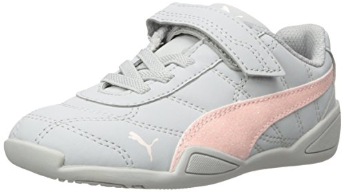 PUMA Girls' Tune Cat 3 Glam Velcro Kids Sneaker, Gray Violet-Pearl, 9 M US Toddler