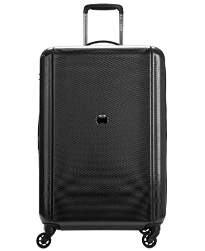 ide 25'' 4 Wheel Expandable Spinner, Black (25' Expandable Spinner Luggage)
