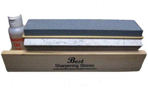 Arkansas Tri-Hone Knife Sharpener - 3 Stones 10