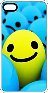 Yellow St&out Smiley Face White Plastic Case for Apple iPhone 4 or iPhone 4s