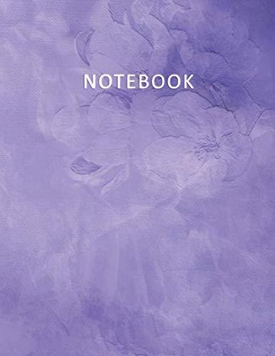 Notebook: Quaderno per appunti con 100 pagine bianche e numerate – Elegante effetto Acquerello con  Rose Viola – Misura A4 – Diario, Doddles, Schizzi, Disegni, Note, Memoriea (Italian Edition)