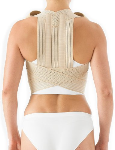 Neo G Clavicle Brace - Back Support For Posture Correction, Early Kyphosis, Rounded Shoulders, Pain Relief, Muscular Aches, Rehab - Fully Adjustable - Class 1 Medical Device - Medium - Tan by Neo-G