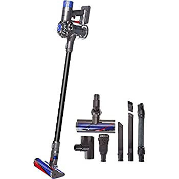 dyson v6 absolute pro cordfree vacuum w hepa filter fluffy head red or black. Black Bedroom Furniture Sets. Home Design Ideas