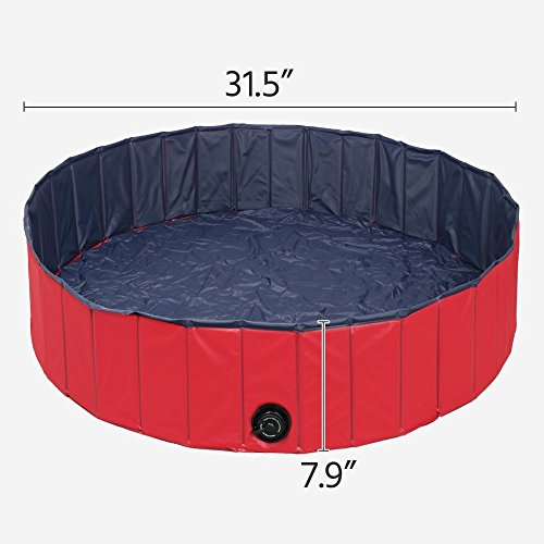 Yaheetech 32inch.D x 8inch.H Pet Swimming Pool Foldable Bathtub Dog Cats Washer by Yaheetech (Image #2)