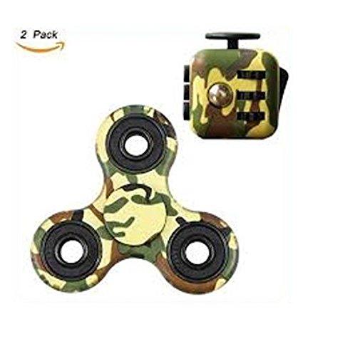 Be Squared Angstwürfel und Tri Spinner Combo – Sensorisches Spielzeug für Erwachsene und Kinder (Grün-Muster) Dot-Log Services Limited