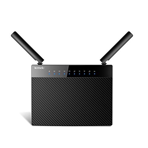 MMFFYZ High Power 1200M Dual-Band 5G Gigabit Wireless WiFi Router Home WiFi Repeater 5 Gigabit Port Router Dual-Band 2.4GH / 5GHz Wireless Router(Black)