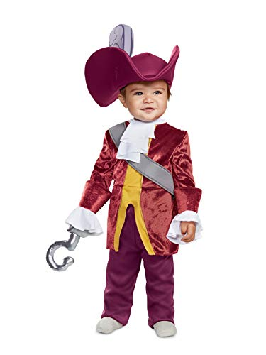 Disguise Baby Boys Captain Hook Classic Infant Costume, red, 12-18m