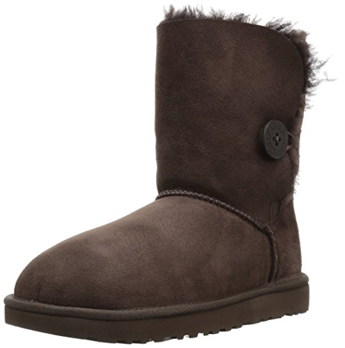 (UGG Women's Bailey Button II Winter Boot, Chocolate, 8 B US)