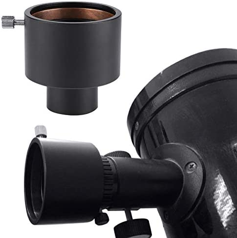 """Oumij Telescope Eyepiece Extension Tube Adapter Metal 1.25"""" to 2"""" Telescope Eyepiece Adapter 31.7mm to 50.8mm Mount Adapter Projection Astrophotography"""