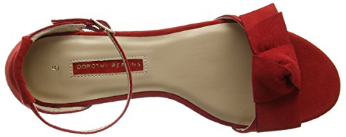 Shelly Rosso Donna 10 Aperta Sandali Perkins Punta Dorothy Red 5n14H4