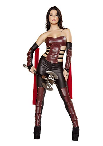 XSQR Halloween Sexy Jumpsuit PU Leather Catwoman Catsuit Costume Party Outfit Dress Up Cosplay Tight Bodysuit Black]()