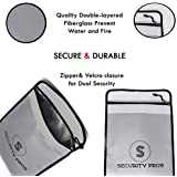 Security Pros Cash Envelope Document Bag,15x11 Non-Itchy Silicone Coated Fire & Water Resistant Bag, Blast Proof for Lipo Batteries, Safe Charging and Storage, Protect Your Money, Documents, Jewelry