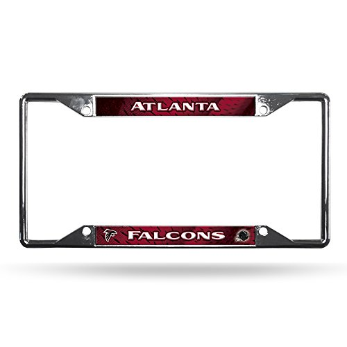 Rico Industries NFL Atlanta Falcons Easy View Chrome License Plate Frame ()