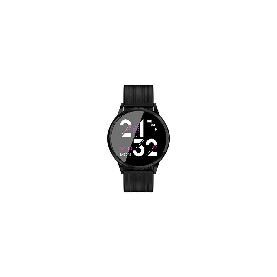 CHMORA MK07 Montre Intelligente à Bande de Silicone, Montre de Sport à Bracelet Intelligent, Moniteur de fréquence…