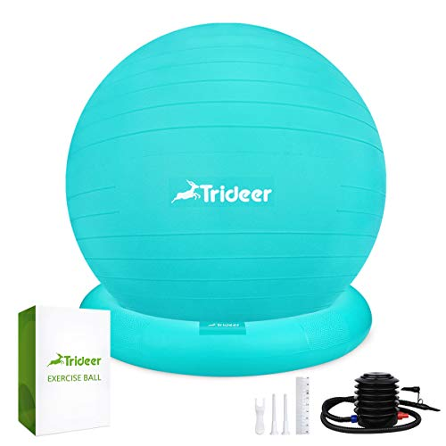 Trideer Ball Chair - Exercise Stability Yoga Ball with Base for Home and Office Desk