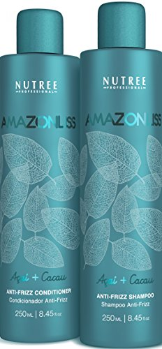 Amazonliss Home Care Anti Frizz After Care Post Treatment Shampoo and Conditioner Set 8.45 fl.oz - For Keratin Treated Hair - Prolongs the Smooth Effect - Leaves Hair Incredibly Soft and Shiny (Best Shampoo After Brazilian Keratin Treatment)