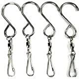 Swivel Clip Hanging Hooks for Wind Spinners Spiral Tails Twisters Wind Socks Bird Feeders Garden Decor (4)