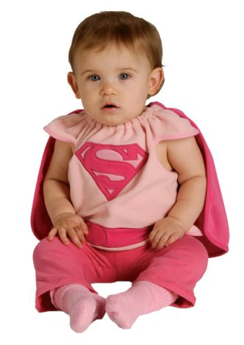 [Rubie's Costume Co Baby Girl's DC Superheroes Supergirl Deluxe Bib, Multi, One Size] (Toddler Supergirl Costumes)