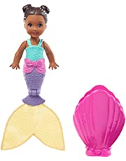 Barbie Dreamtopia Blind Pack Surprise Mermaid Dolls [Styles May Vary], 4-inch, in Seashell, with Surprise Look, Gift for 3 to 7 Year Olds