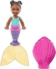 Barbie Dreamtopia Blind Pack Surprise Mermaid Dolls [Styles May Vary], 4-inch, in Seashell, with Surprise Look