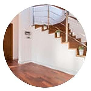 alfombrilla de ratón Macetas situadas en las escaleras de madera - ronda - 20cm