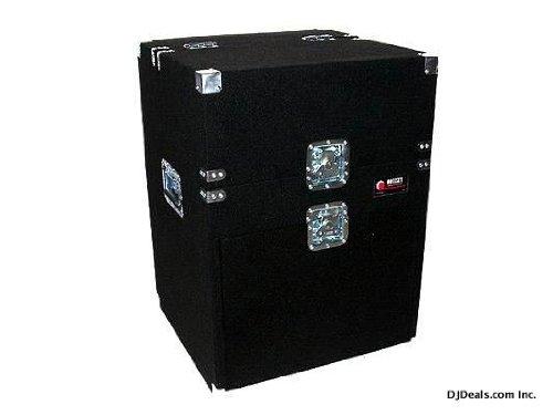 Odyssey CXM364 Carpeted Pro Triple Combo Rack: 3u Top Slant, 6u Middle Slant, 4u Bottom Vertical Odyssey Innovative Designs