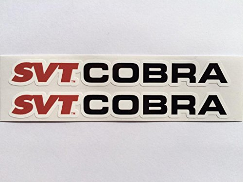 2 Ford Mustang SVT Cobra Name Die Cut Decals by SBD DECALS