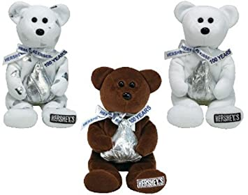 ccb864d156c Image Unavailable. Image not available for. Color  TY Beanie Babies -  HERSHEY BEARS (Set of 3 - Cocoa Bean ...