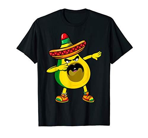 Dabbing Dab Mexican Avocado Shirt Funny Cinco de Mayo TShirt ()