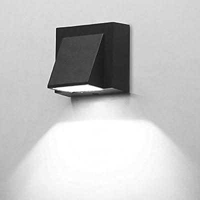 BRILLRAYDO 3W/6W LED Outdoor Exterior Wall Step Light Fixture Lamp Black Finish