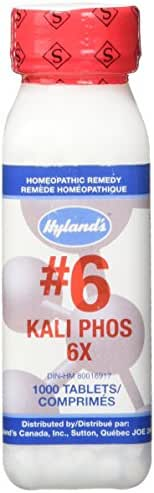 Hyland's #6 Kali Phos 6X Cell Salt Tablets, Natural Relief of Stress, Headaches, Insomnia, and Simple Nervous Tension, 1000 Count