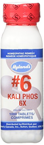 Hyland's Cell Salts #6 Kali Phosphoricum 6X Tablets, Natural Relief of Stress, Simple Nervous Tension, Headaches, 1000 Count Cell Salts 1000 Tablets