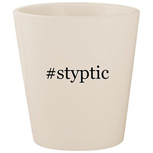 #styptic - White Hashtag Ceramic 1.5oz Shot Glass