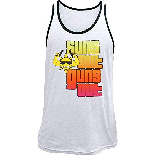 Classic Sun's Out Guns Out Men's Tank Top (XL, White) (Suns Out Guns Out Shirt Tank Top)