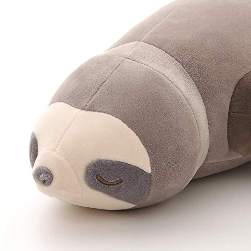 kebyy 55cm Cute Stuffed Animal Sloth Pet Pillow Cute Plush Soft Sloth Pillow Toy Gifts for Living Room Decoration Comfort Hugging Cushion