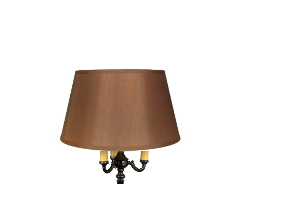 Upgradelights Replacement Lamp Shade for 19 Inch Old Floor Lamps in Bronze Silk