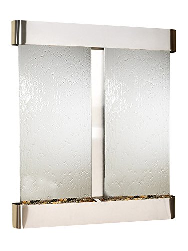 - Adagio Cottonwood Falls Fountain w/Silver Mirror in Stainless Steel Finish