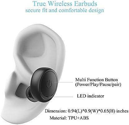 WH-300 Waterproof TWS Wireless earbuds headphone with 1200mAh Charging Capsule