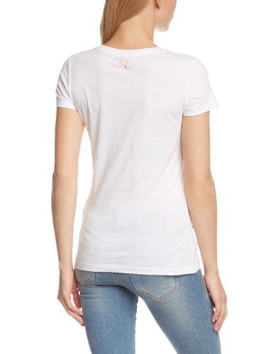 PUMA T-Shirt Large Logo Tee - Camiseta / Camisa deportivas para mujer, color blanco, talla M blanco